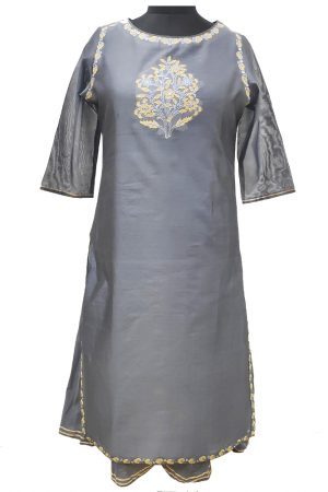 Chanderi Embroidered Double Style Kurti. S,M,L,XL