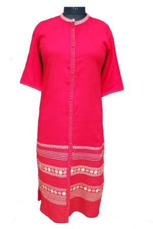 Straight Rayon Embroidered kurti. S,M,L,Xl,XXL, PSK100040