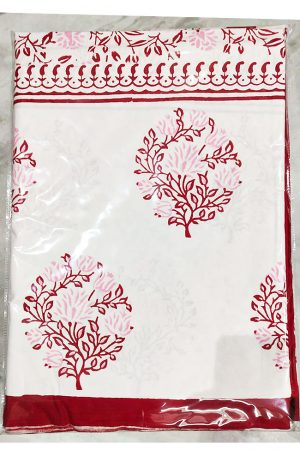 Cotton Printed Double Bedsheet with 2 Pillow Covers, PSH10010