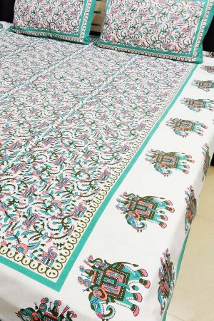 Cotton Printed Double Bedsheet with 2 Pillow Covers, PSH10011
