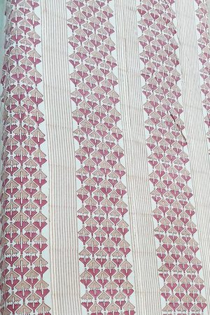 Cotton Hand Print Single Bedsheet, PSH10012