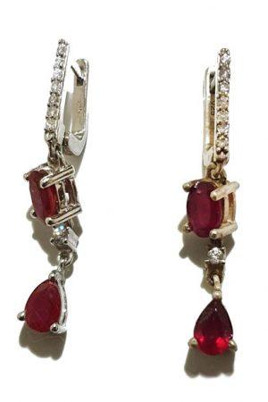 Stone Studded silver Earrings, PSJ10009