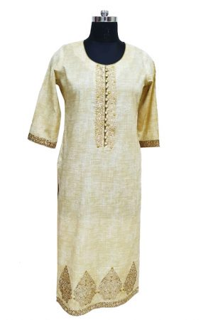 Cotton Embroidered Kurti. S,M L,Xl,Xxl, PSK100054