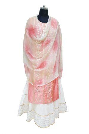 Chanderi Gota Style,Dupatta,Skirt Set,PSK100064