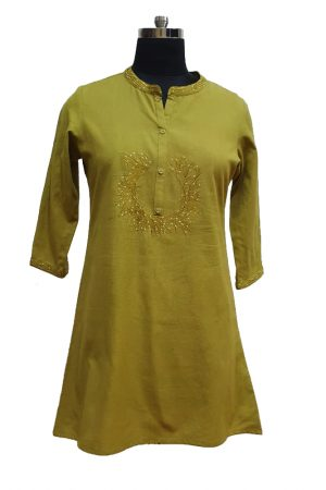 Cotton Embroidered Tunic, PST100013
