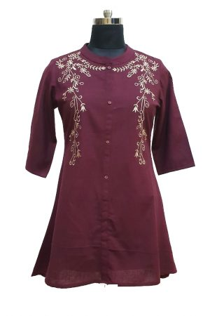 Cotton Embroidered Tunic, PST100014