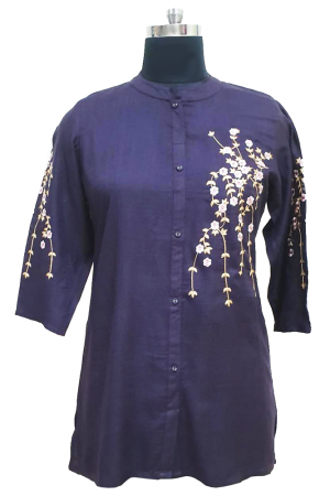 Rayon Embroidered Top, PST10006