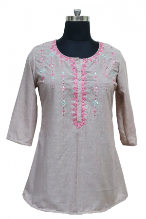 Cotton Embroidered Top, PST10008